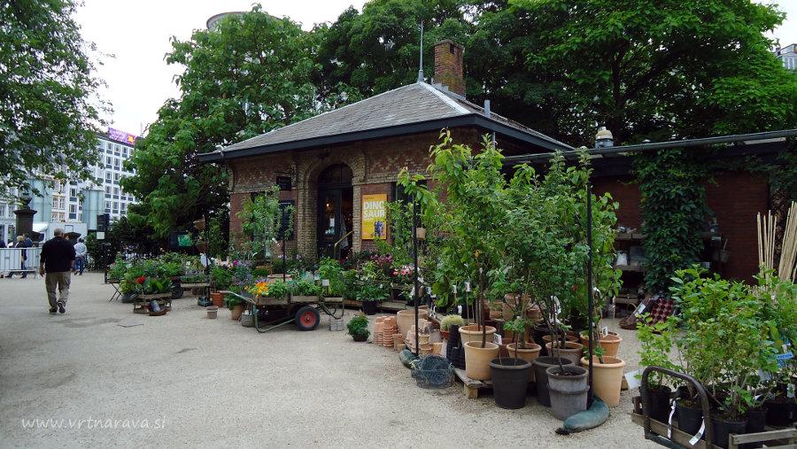 Vhod v botanični vrt Kobenhavn